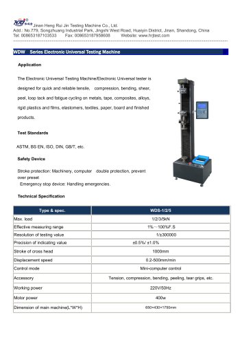 WDS Series Electronic Universal Testing Machine