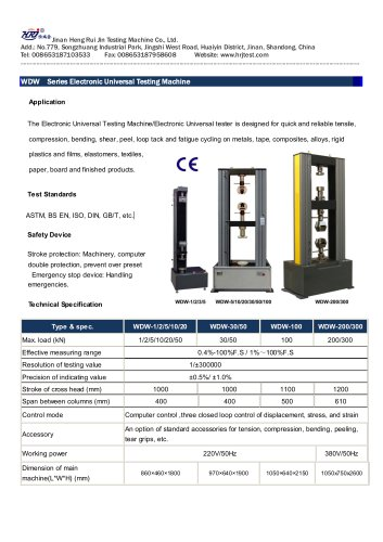 WDW Series Electronic Universal Testing Machine