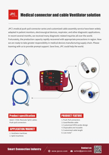 Medical Connector & Cable Ventilator Solution