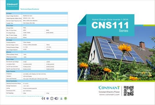 CNS111 series / Hybrid Charger Solar Inverter 1- 2 KVA