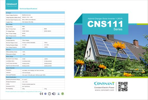 High Frequency Solar Inverter CNS111 series