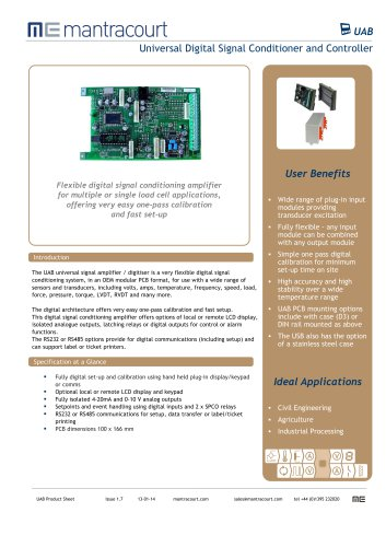 Universal Digital Signal Conditioner and Controller