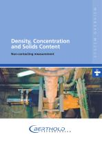 Density, Concentration and Solids Content
