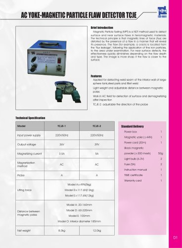 Ac Yoke-Magnetic Particle Flaw Detector TCJE