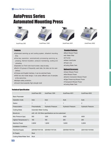 Automated Mounting Press Series