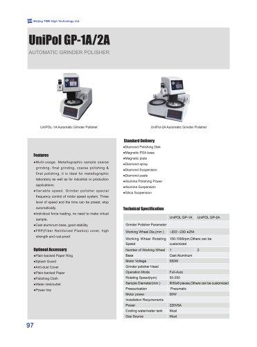 Automatic Grinder Polisher UniPol GP-1A/2A