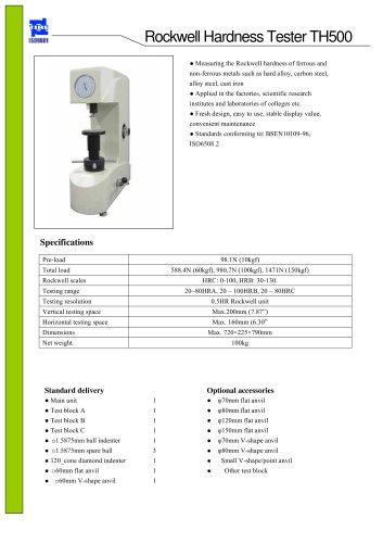 Bench Hardness Tester TH500 for Rockwell Hardness Testing