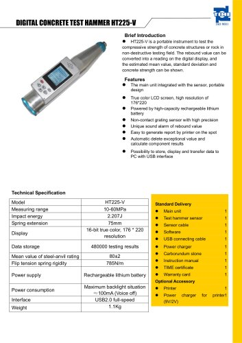 Digital Concrete Test Hammer HT-225V