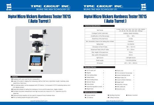Digital Micro Hardness Tester TH715[Auto Turret]