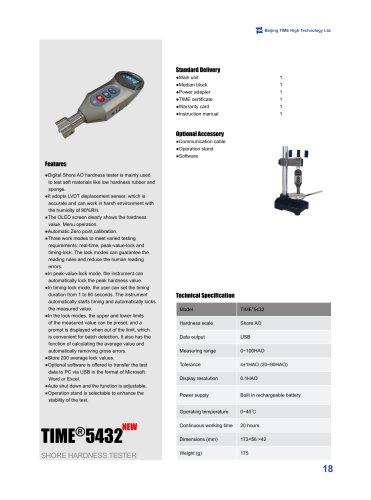 Digital Shore AO Hardness Tester for Soft Rubber and Sponge