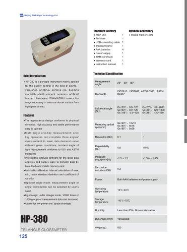 HP-380 Tri-angle Gloss Meter