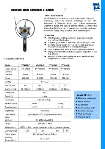 Industrial Video Borescope VT Series