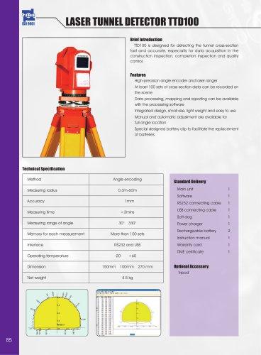 Laser Tunnel Detector TTD100