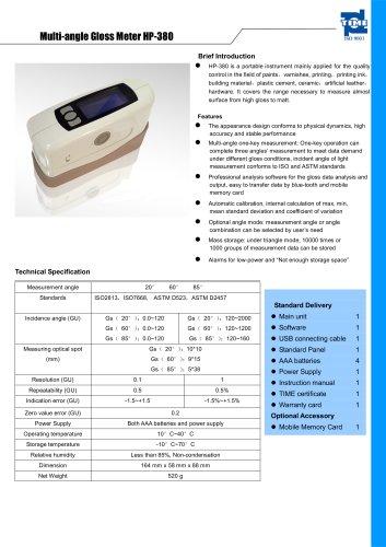 Multi-angle Gloss Meter HP-380