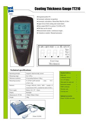 Portable Coating Thickness Gauge TT210