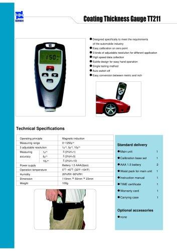 Portable Coating Thickness gauge TT211