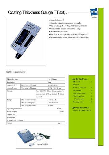 Portable Coating Thickness Gauge TT220