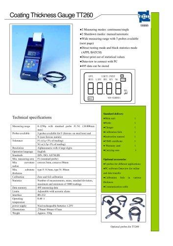 Portable Coating Thickness Gauge TT260