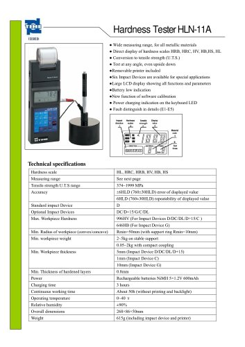 Portable Hardness Tester HLN-11A