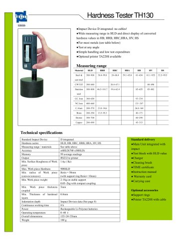 Portable Hardness Tester TH130