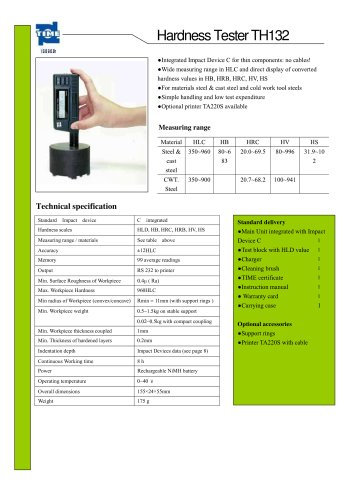 Portable Hardness Tester TH132