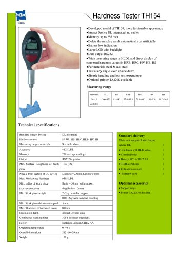 Portable Hardness Tester TH154
