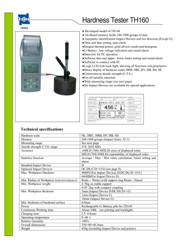 Portable Hardness Tester TH160