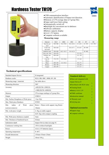 Portable Hardness Tester TH170