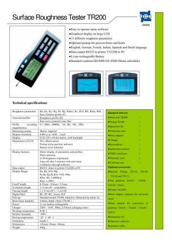 Portable Roughness Tester TR200