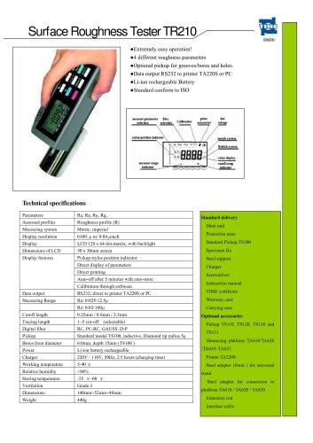 Portable Roughness Tester TR210