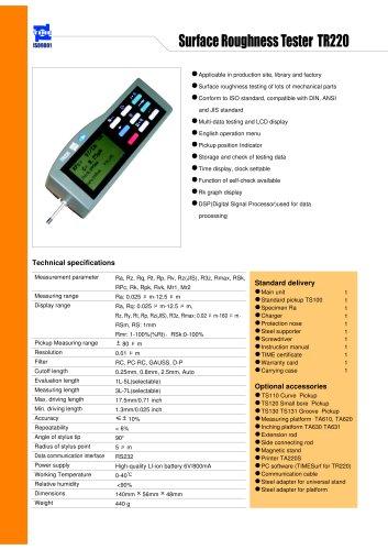 Portable Roughness Tester TR220