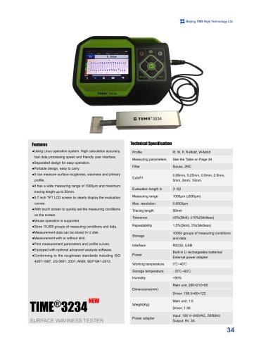 Portable Surface Waviness Tester TIME3234
