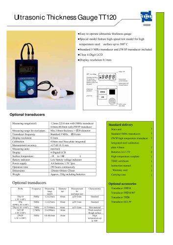 Portable Ultrasonic Thickness Gauge TT120