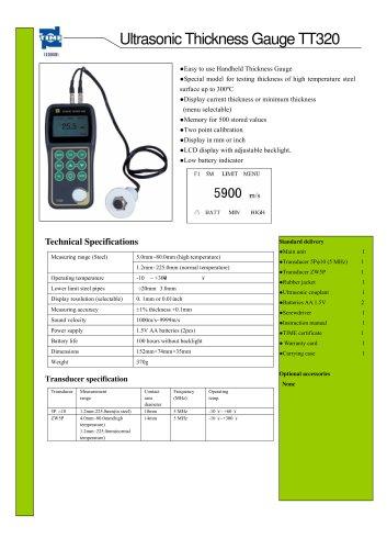 Portable Ultrasonic Thickness Gauge TT320