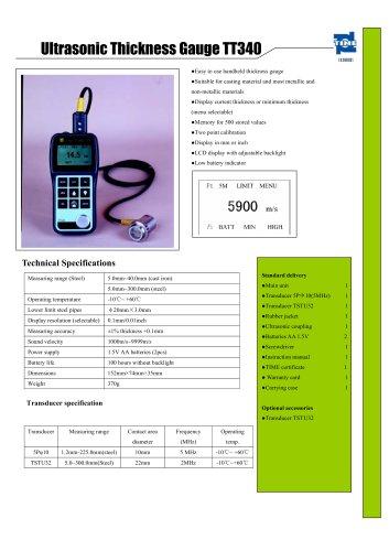 Portable Ultrasonic Thickness Gauge TT340