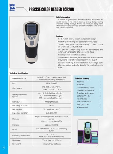 Precise Color Reader TCR200