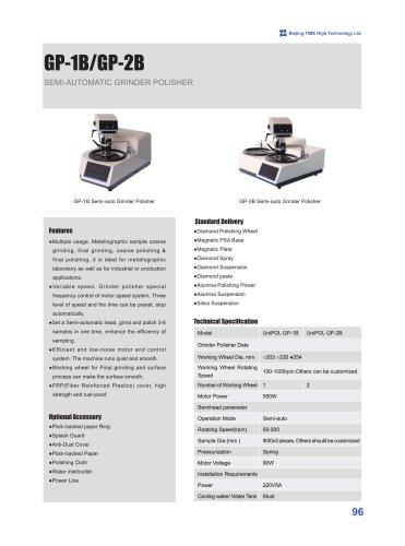 Semi-automatic Grinding and Polishing Machine GP-1B/GP-2B
