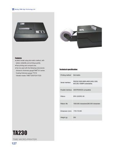 TA230 TIME Micro-printer