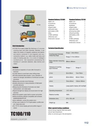 TC100/110 Rebar Locator