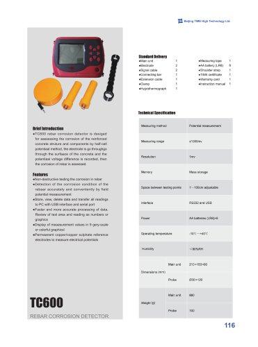 TC600 Rebar Corrosion Detector