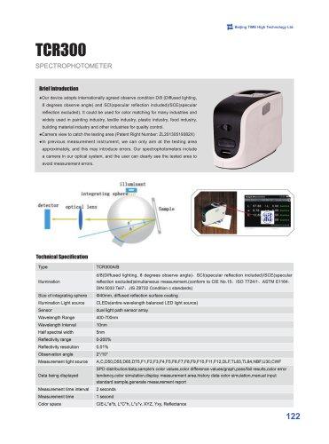 TCR300 Spectrophotometer