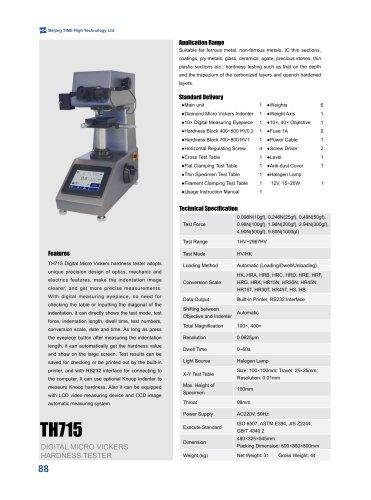 TH715 Digital Micro Vickers Hardness Tester
