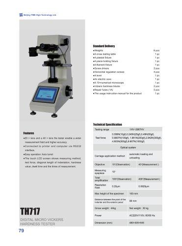 TH717 Digital Micro Vickers Hardness Tester