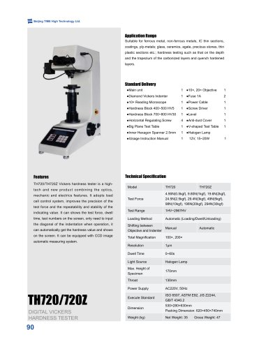 TH720/720Z Digital Vickers Hardness Tester