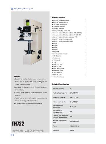 TH722 Universal Hardness Tester