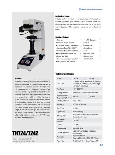 TH724/724Z Digital Vickers Hardness Tester