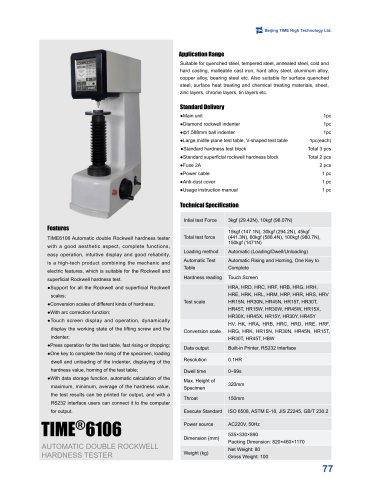 TIME®6106 Automatic Double Rockwell Hardness Tester