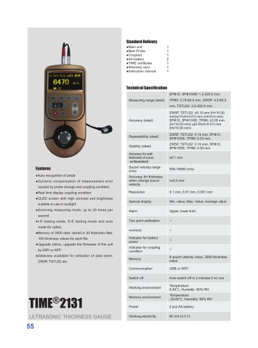 TIME2131 High Accuracy Digital Thickness Gauge
