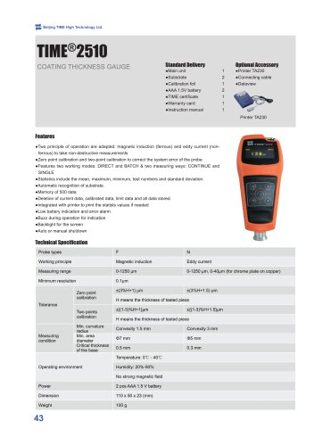 TIME2510 Digital Paint Thickness Gauge