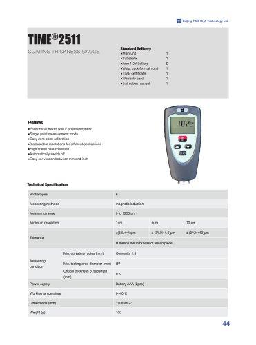 TIME2511 Digital Coating Thickness Gauge